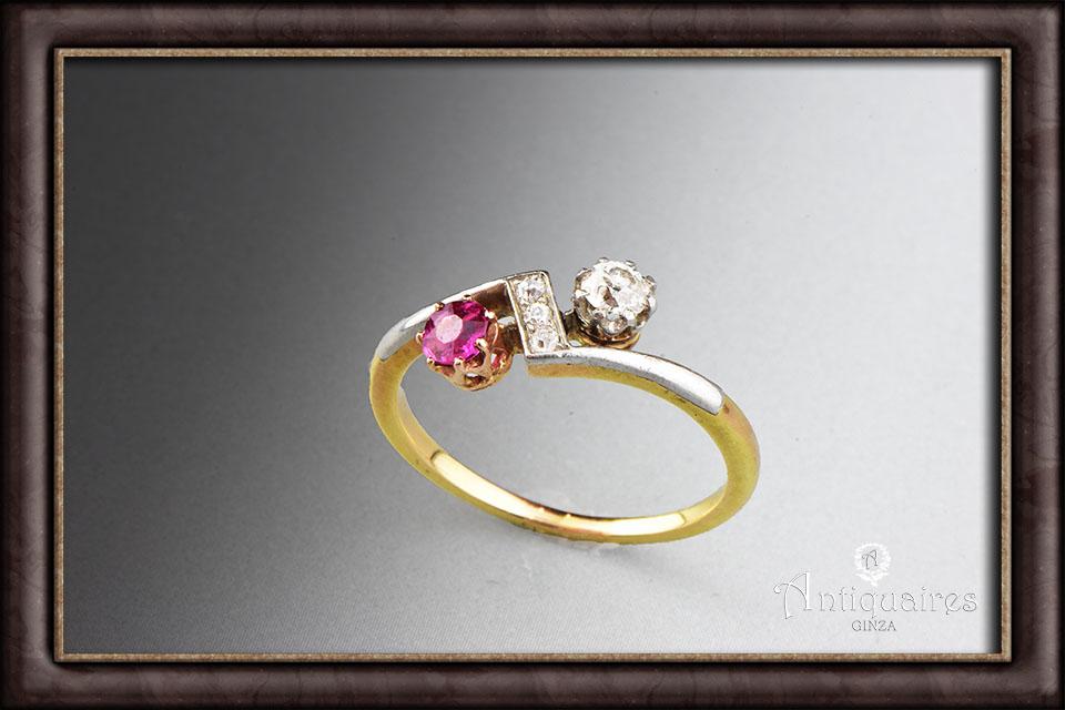ルビー&ダイヤのリング