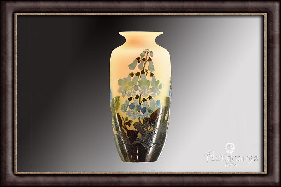 ガレ/ジキタリス花瓶